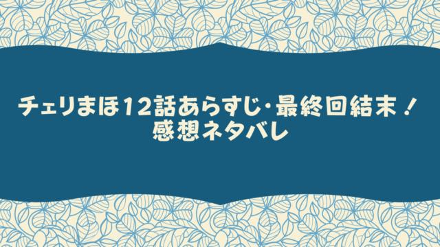 チェリまほ12話あらすじ・最終回結末!感想ネタバレ