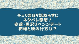 チェリまほ9話ネタバレ感想!安達・黒沢リベンジデートと柘植と湊の行方は?