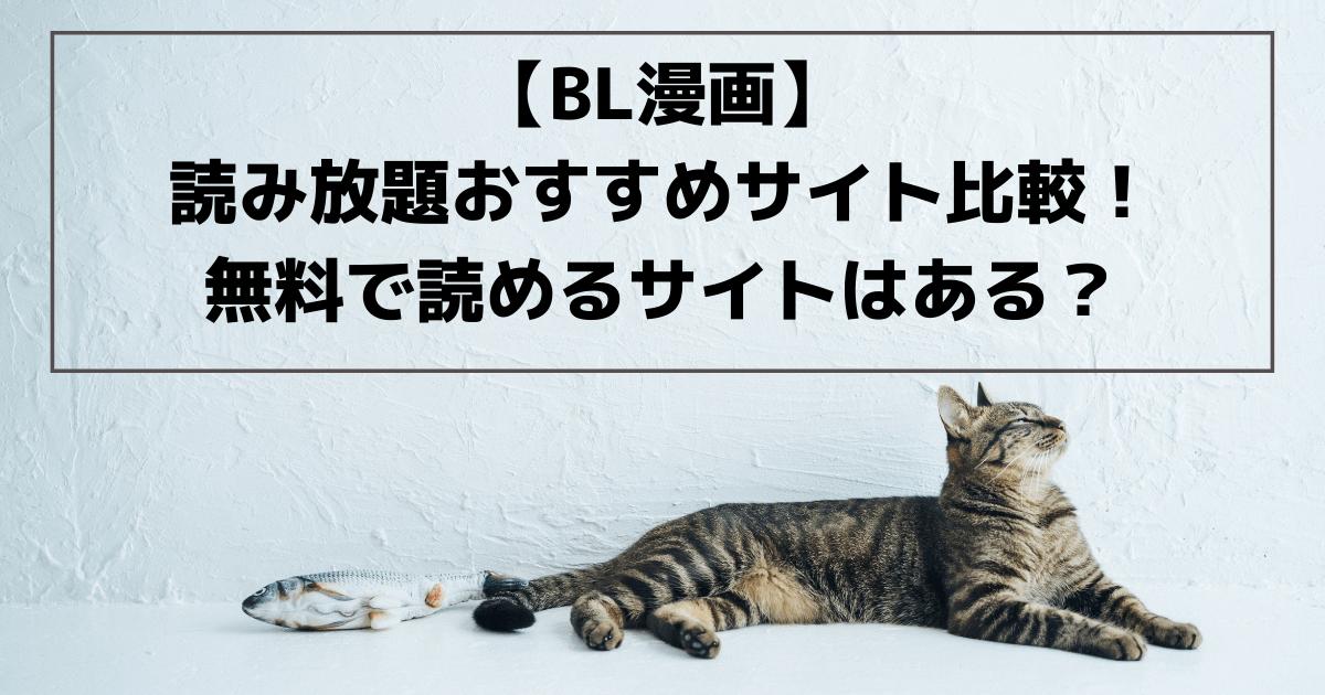 【BL漫画】読み放題おすすめサイト比較!無料で読めるサイトはある?